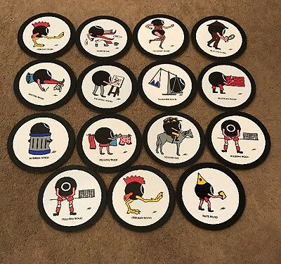 Bowls ID Markers  15 Assorted. Vinyl On Board