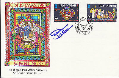 Debbie Mcgee Signed Isle Of Man Fdc