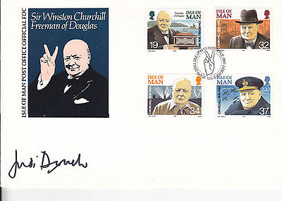 Judi Dench Signed Isle Of Man Fdc