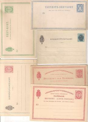 26317 DENMARK various early stationery items Unused x 6 items