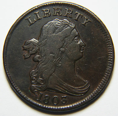 1803 Draped Bust Half Cent 1/2¢ Liberty Head Coin Lot # A 1974