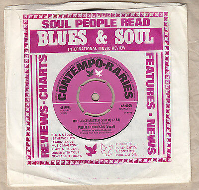 Contempo Raries Willie Henderson The Dance Master Superb Funky Soul Ex+ Vinyl