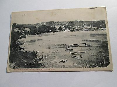 Early Postcard of St Brelade's Church and Hotel, Jersey posted 1903