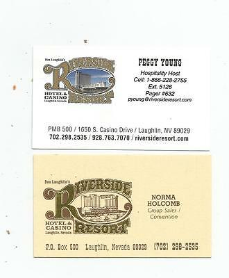2 Riverside Casino Business Cards  Laughlin, Nevada