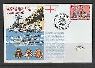 GB Event cover, 1979 royal navy cover, 40th anniv of Battle river Plate, special