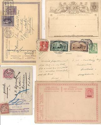 26322 BELGIUM selection of Early Postal stationery cards x 5 incl France Due1897