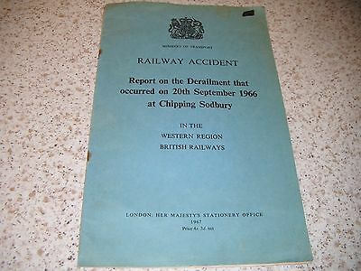 WR Railway Accident Report On Derailment At Chipping Sodbury: 1967