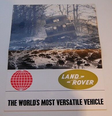Land Rover Series 2a & Forward Control Fold Out Sales Brochure 657 c.1965