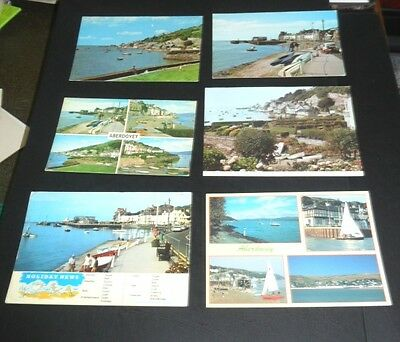 6 Postcards of ABERDOVEY,  .... Job lot, Wales, Merioneth