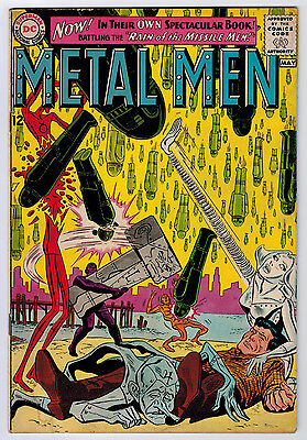 Metal Men #1 4.0 5Th App Ow/w Pages Silver Age