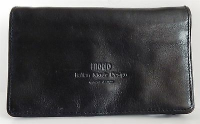 """New - Black Leather Travel Wallet By """"modo"""""""