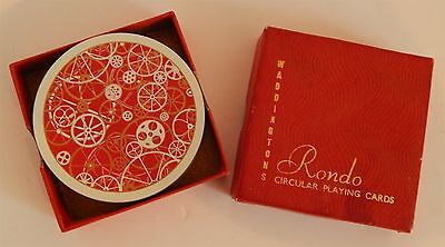 """Vintage Circular Playing Cards By """"rondo"""" From Waddingtons"""