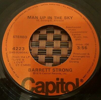 """Barrett Strong Man Up In The Sky Soul 7"""" VG+"""