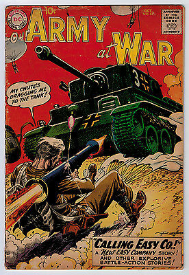 Our Army At War #87 2.0 Kubert Early Sgt Rock Off-White Pages Silver Age