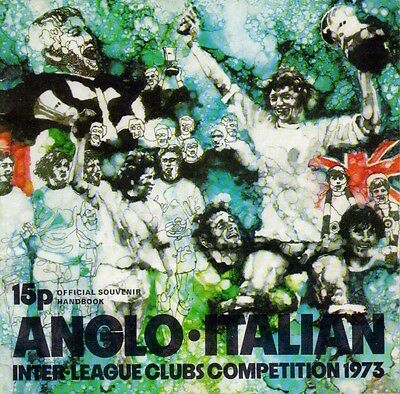 Anglo Italian Official Souvenir 1973 Brochure. Information on every entrant.