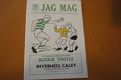 Buckie Thistle V Inverness Caley                                         25/1/86
