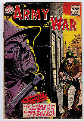 Our Army At War #91 1.8 Apparent All Sgt Issue Kubert Art Ow Pages Silver Age