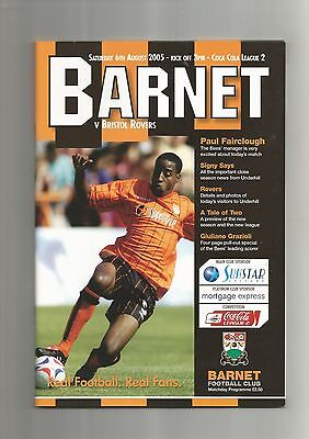 Barnet v Bristol Rovers 6th August 2005 EXCELLENT CONDITION