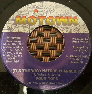 """Four Tops It's The Way Nature Planned It Soul 7"""" VG+"""