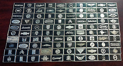 100 Franklin Mint The Centennial Car Mini-Ingot Sterling Silver Collection