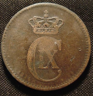 Denmark 1874 5 Ore Clear Date Collectable Piece