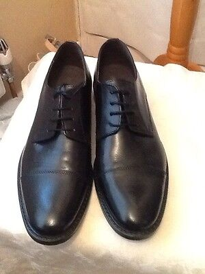 Men's Black Leather Shoes Size 9 By Marco Battisti New