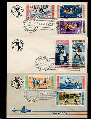 Dominican Republic 1958/9 Olympic Games & Globe First Day Covers & Cds Postmarks