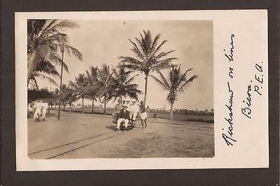 Mozambique. Biera. Rickshaw on Track Lines. RP.