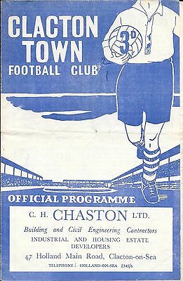 Clacton Town v Dagenham Town East Anglian Cup 1st Round 1957/58