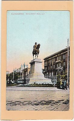 Vintage Card Of Alexandrie. Monument Moh. Aly, Egypt. Not Posted.