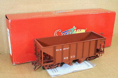 BACHMANN SPECTRUM 88995 Fn3 20.3 G GAUGE D&RV 2 BAY STEEL HOPPER WAGON 9403 qd