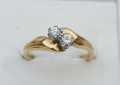 18ct Yellow Gold Two Stone Diamond Ring with Valuation Certificate.