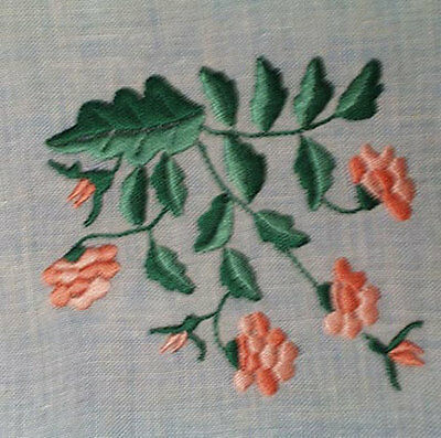 Vintage Linen Placemat Set Of 5 White Hand Embroidered Flowers With 5 Napkins