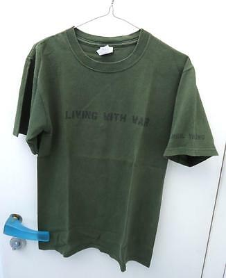 Neil Young Living With War Vintage Lp Promo T-Shirt Small 2006 Preshrunk Cotton