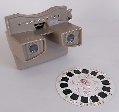 Vintage 60s View-Master Stereoscope (Model G) by Sawyers. + Picture Reel. Toys
