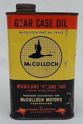 1 Pint Can McCulloch Gear Case Oil * Mobilube SAE 140 * Full Can