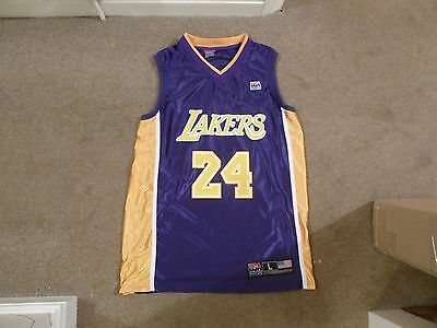 USA Basketball Shirt Adult Large Lakers BRYANT 24 Good Used Condition