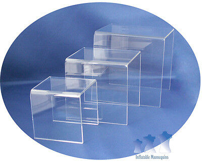 MS16 - Mannequin Stand, Acrylic Riser Set, Small