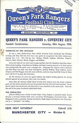 Queen's Park Rangers Reserves v Coventry City Reserves 1950/51 - 4 Page