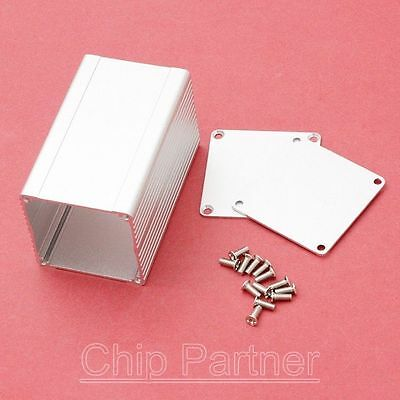 Aluminum PCB Instrument Shell Box Enclosure Project Case 75*46*46mm Slivery