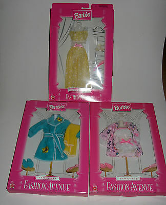 Lot of 3 Fashion Avenue Collection Lingerie 1997 & 1998 Robe Pajamas NRFB