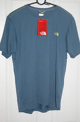 the north face mens reaxion amp tee t-shirt shirt short sleeve diesel blue sizes