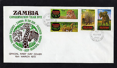 Zambia 1972 Conservation Year First Day Cover With Ndola Cds Postmarks