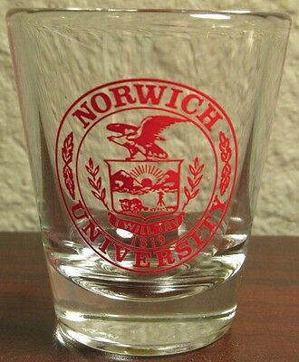 Norwich University Military College Shot Glass - Northfield, Vermont VT