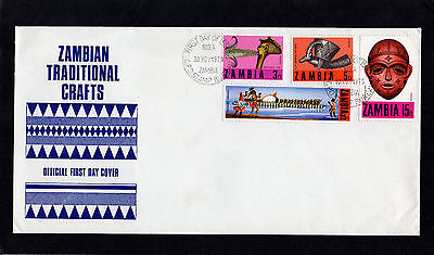 Zambia 1970 Traditional Crafts First Day Cover With Ndola Cds Postmarks