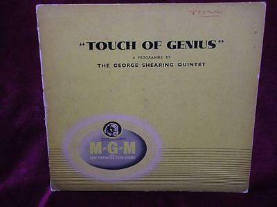 GEORGE SHEARING QUINTET - A Touch Of Genius - MGM D-129 - 1954 - 10 INCH LP