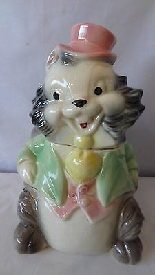 Brush McCoy Pottery 1950'S W15 Squirrel With Top Hat Cookie Jar #H938.
