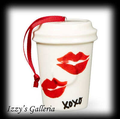 SOLD OUT Starbucks Dot Collection 2015 Lips Love Ornament NEW XOXO