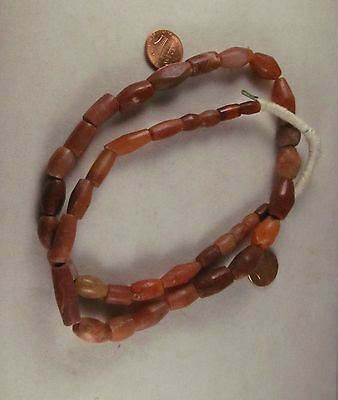 African Trade Stone Beads Ancient This strand includes Agates and carnelians Dug