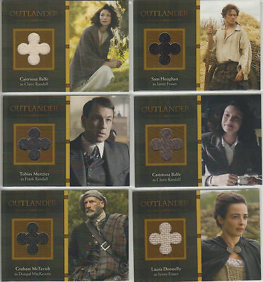Outlander Trading Cards Season 1 - Set of ALL 36 Pack Inserted Wardrobe Cards
